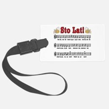 Sto Lat! Song With Beer Mugs Luggage Tag