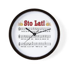 Sto Lat! Song With Beer Mugs Wall Clock