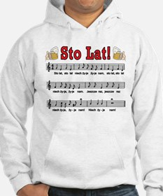 Sto Lat! Song With Beer Mugs Hoodie