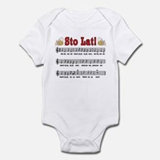 Sto Lat! Song With Beer Mugs Infant Bodysuit