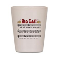 Sto Lat! Song With Beer Mugs Shot Glass