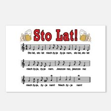 Sto Lat! Song With Beer Mugs Postcards (Package of