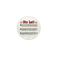 Sto Lat! Song With Beer Mugs Mini Button (10 pack)