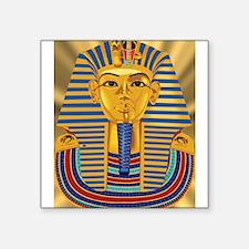 "Tut Mask on Golden Rays Square Sticker 3"" x 3"""