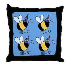 Magic Bee Throw Pillow blue