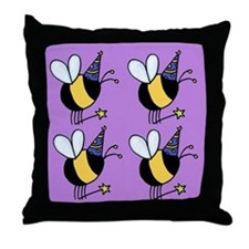 Magic Bee Throw Pillow purple