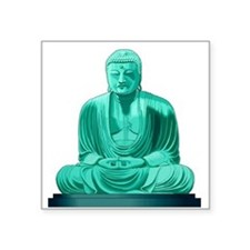 "Buddha Jade Square Sticker 3"" x 3"""