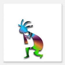 "One Kokopelli #5 Square Car Magnet 3"" x 3"""