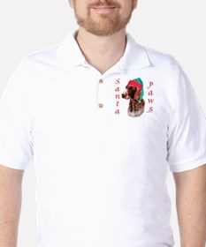 Santa Paws Wirehaired Pointer T-Shirt