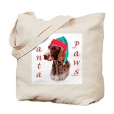 Santa Paws Wirehaired Pointer Tote Bag