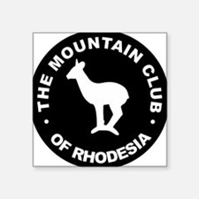 Rhodesian Mountain Club white on black Square Stic