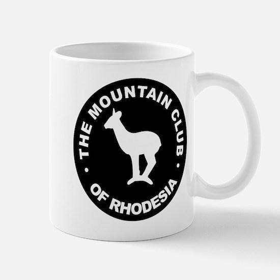 Rhodesian Mountain Club white on black Mug