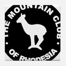 Rhodesian Mountain Club white on black Tile Coaste
