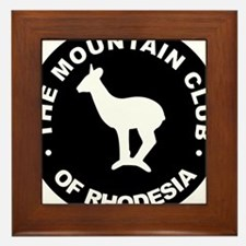 Rhodesian Mountain Club white on black Framed Tile