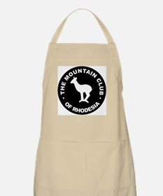 Rhodesian Mountain Club white on black Apron