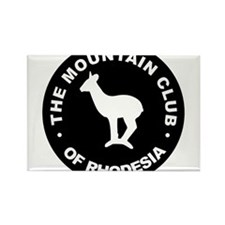 Rhodesian Mountain Club white on black Rectangle M