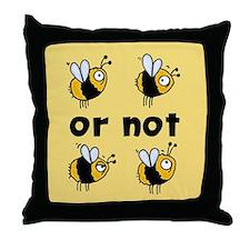 2B or not 2B Throw Pillow yellow