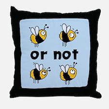 2B or not 2B Throw Pillow blue