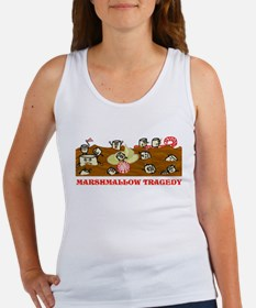 Funny Marshmallow Tragedy Women's Tank Top