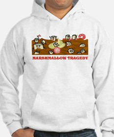 Funny Marshmallow Tragedy Hoodie