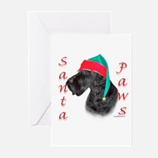 Santa Paws Giant Schnauzer Greeting Cards (Package