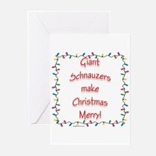 Merry Giant Schnauzer Greeting Cards (Pk of 10