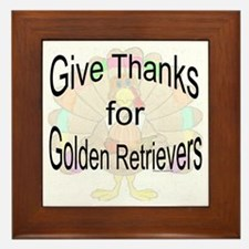 Thanks for Golden Framed Tile