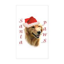 Santa Paws Golden Rectangle Decal