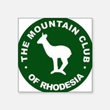 "Rhodesian Mountain Club green Square Sticker 3"" x"