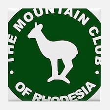 Rhodesian Mountain Club green Tile Coaster