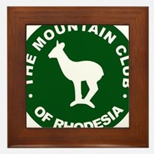 Rhodesian Mountain Club green Framed Tile