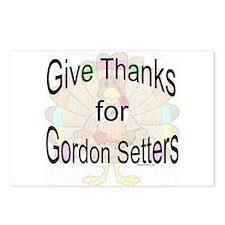 Thanks for Gordon Setter Postcards (Package of 8)