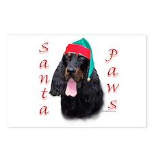 Santa Paws Gordon Setter Postcards (Package of 8)