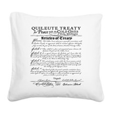 Twilight Treaty Square Canvas Pillow