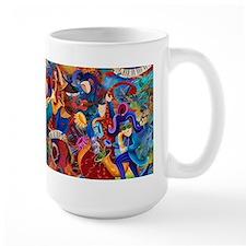 Music Festival Large Ceramic Coffee Mug