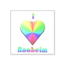 "I Love Anaheim #1 Square Sticker 3"" x 3"""