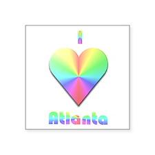 "I Love Atlanta #1 Square Sticker 3"" x 3"""