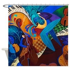 The Jazz Music Players Shower Curtain