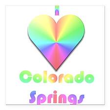 "I Love Colorado Springs #1 Square Car Magnet 3"" x"