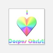 "I Love Corpus Christi #1 Square Sticker 3"" x 3"""