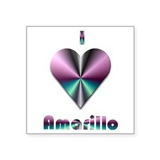 """I Love Amarillo #2 Square Sticker 3"""" x 3"""""""