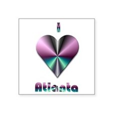 "I Love Atlanta #2 Square Sticker 3"" x 3"""