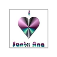 "I Love Santa Ana #2 Square Sticker 3"" x 3"""