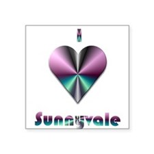 "I Love Sunnyvale #2 Square Sticker 3"" x 3"""