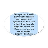 Eisenhower quote Oval Car Magnets