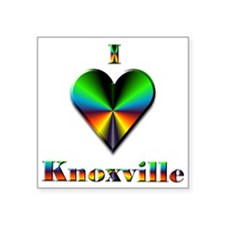 "I Love Knoxville #4 Square Sticker 3"" x 3"""