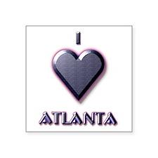 "I Love Atlanta #5 Square Sticker 3"" x 3"""