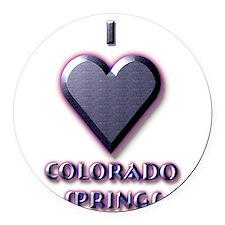 I Love Colorado Springs #5 Round Car Magnet