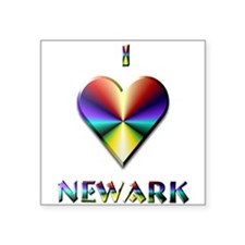 "I Love Newark #6 Square Sticker 3"" x 3"""