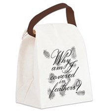Covered In Feathers Canvas Lunch Bag